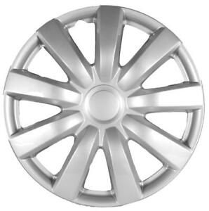 """QUALITY 15"""" GEARX WHEEL COVERS SILVER CERBERUS STYLE SET OF 4"""