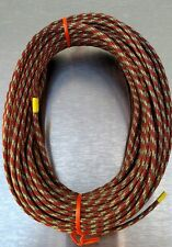 "Men's and Women's Burgundy Tan and Green boot lace material 3/16"" x 50' coil"