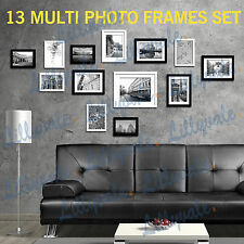 Black Multi Picture Photo Frames Wall Set 13pcs 125cm X 60cm Art Deco Home-3