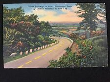Mid-1900s Highway 58 from Chattanooga to Rock City, TN fold-out tourism postcard