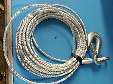 """Boat Trailer GALVANIZED Winch Cable 7/32"""" Thick Steel Braided x 25' Bulk 5k cap."""