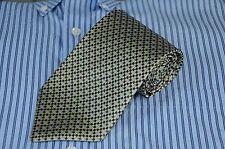 Tom James Corporate Image Men's Tie Gray & Navy Geometric Woven Silk Necktie