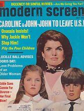 JULY 1969 MODERN SCREEN vintage movie magazine ---  JACKIE KENNEDY