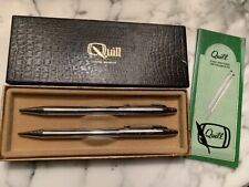 Vintage New Quill Ballpoint Pen & Pencil Set Fine Writing Instruments NIB