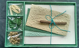Exquisite Gift Letter/Writing Stationery Set/Handmade Mulberry Paper/HunterGreen