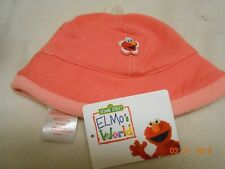 New cute Elmo fleece trim baby hat size 0-3 months FREE SHIP