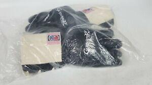 Vintage Pro Force Black Leather Kempo Gloves Gladiator Size Medium