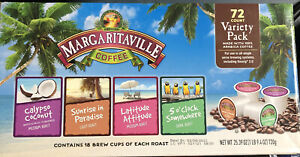 72 Count Margaritaville Variety Pack for K Cup Keurig 2.0 Brewers BB 02/08/2023