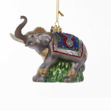Fancy Glass Elephant Ornament