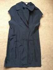 MARNI -GILET IN BLUE -SHOWER PROOF WITH COLLAR,DOUBLE BREASTED & POPPERS -SIZE 6