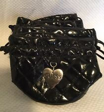5 X GUESS Black Faux Leather Draw String Pouch