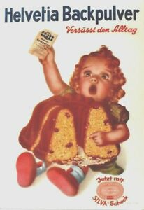 Original vintage poster HELVETIA BAKING POWDER GIRL 1950