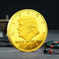 2019 President Donald Trump Gold Plated Commemorative Coin