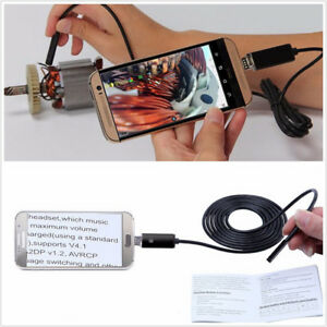 Universal 2-in-1 8mm 10M Vehicles Endoscope LED USB Inspection Camera Waterproof