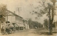 1908 St Louis Missouri Street View Water Wagon Mercantile Store RPPC Real Photo