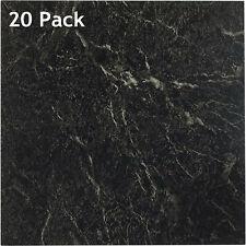 "12x12"" Peel and Stick Vinyl Floor Tile Self-Adhesive Square Sticker Marble Black"