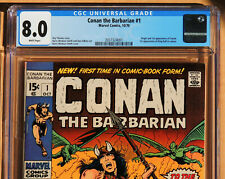 CONAN THE BARBARIAN #1, CGC 8.0 VF, White Pages, Marvel Comics, 1970
