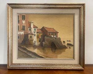 Seassaro Saverio (Genova 1917-2016) dipinto ad olio su tela Boccadasse