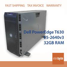 Dell PowerEdge T630 E5-2640v3 32GB H730 1GB I350-T4 4-Port GbE 16x 2.5 SERVER