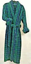 CHERESKIN Men's Heavy Terrycloth Calf Length Size M / L 2 Pocket Bathrobe Belted