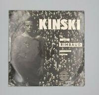Klaus Kinski spricht Rimbaud 10` Rare in VG + condition