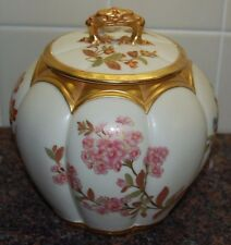 STUNNING ANTIQUE ROYAL WORCESTER BISCUIT JAR (Circa 1889)