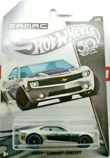 CHEVY CAMARO CONCEPT ZAMAC 50TH  2/8 CHROME HOT WHEELS MINT LONG CARD
