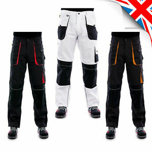 Heavy Duty Pants WORK TROUSERS Cargo Combat Style  -Knee Pad Pocket - DECORATORS