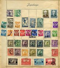 LOT OF ROMANIA, SERBIA & JUGOSLAVIA USED STAMPS AS SHOWN