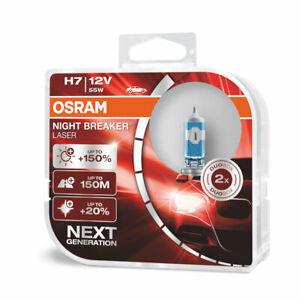 Osram H7 Night Breaker LASER NEXT GENERATION 150% 64210NL-HCB Halogen Light Bulb