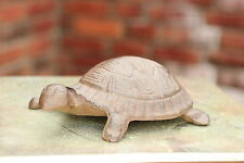 Gusseisen Schildkröte groß Metall braun Garten Deko Figur Teich Skulptur