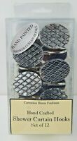 Carnation Home Fashions Shower Curtain Hooks Set of 12 Imperial Antique Metal