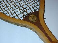"Rex BW Quality ""Norfolk"" Antique Vintage Tennis Racquet Tennis Racquet - c1915"