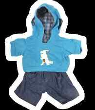 """Teddy Bear Clothes Dinosaur Dino outfit hoodie and jeans to fit 15"""" build a bear"""