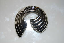 Vintage Couture Napier Silver Toned Metal Wave Shape Form Pin
