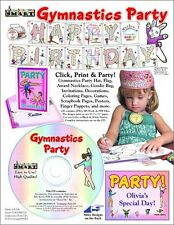 546 Mb Gymnastics Party Cd - Great For Activities - Decorations - Invitations