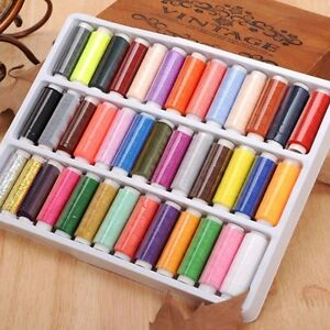 39PCS/Set Assorted Colorful Polyester Sewing Thread Spools