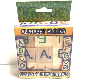 Alphabet Wooden Blocks (9 Count)