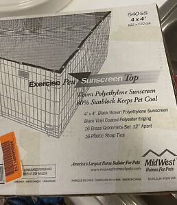 MidWest Homes for Pets Exercise Pen Sun Screen, UV Resistant, New