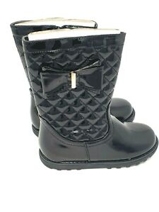 kids/GIRLS BOOTS BLACK  PATENT BUCKLE T-BAR SHOES BROGUE PUMPS DOLLY BOOT SCHOOL