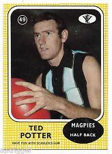 1972 Scanlens (49) Ted POTTER Collingwood   { MINT }