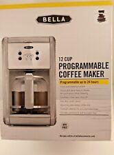 Bella 12 Cup Programmable Coffee Maker Light Gray