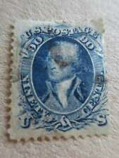 USA WASHINGTON A31    90 c  blue with crack Scott#72     /ct7295