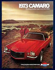 Prospekt brochure 1973 Chevrolet Chevy Camaro (USA)