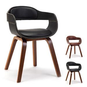 Mingone Esszimmerstühle Nussbaum Bequemer Ledersessel Wohnzimmerstühle Sessel