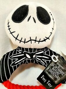 The Nightmare Before Christmas Jack Skellington Plush Rope Dog Toy w/Squeaker