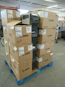 LOT of (27) Zebra ZT230 203DPI Thermal Label Barcode Printers NIC Serial Port