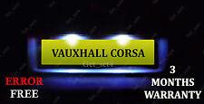 Vauxhall Corsa C D VXR 05-11 Number Plate LED Light Bulbs - Xenon White