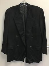 Yves Saint Laurent Made in Italy Cashmere Black Vintage Coat Suit