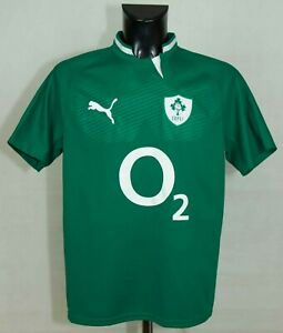 IRELAND NATIONAL RUGBY SHIRT 2009/2011 PUMA SIZE L EXCL //
